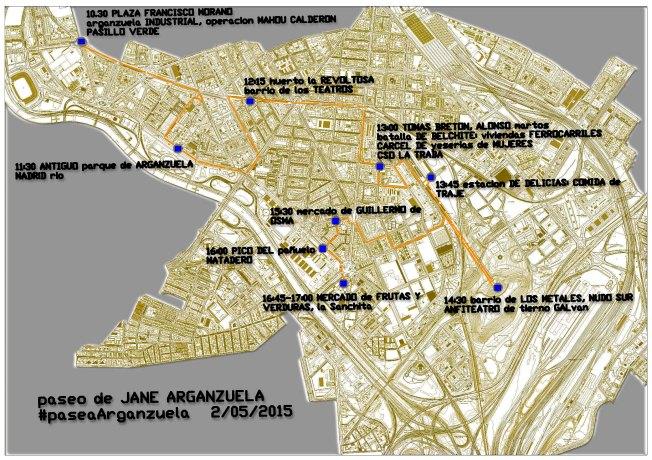paseo jane Arganzuela mapa